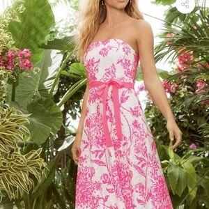 Lilly Pulitzer Sienna strapless dress size 6 NWT